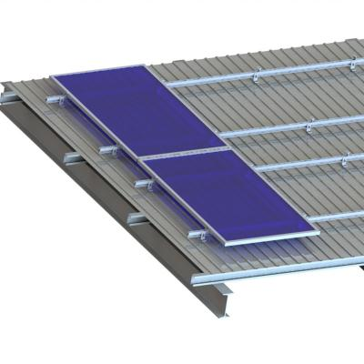 Trapezoid Metal Roof L feet Solar Mounting System