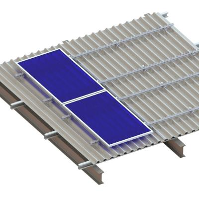 Universal Metal Roof Mounting System for Trapozoid Rooftop