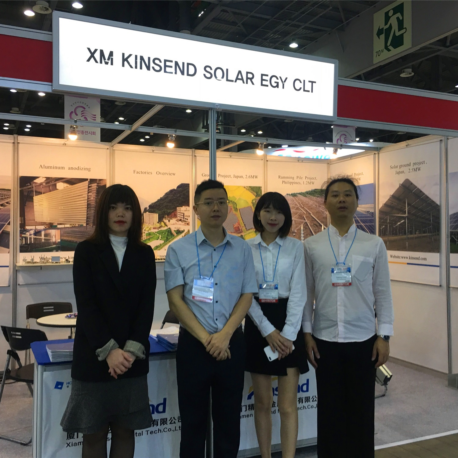 Kinsend exhibited at EXPO Solar PV Korea 2019